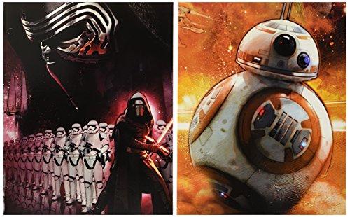 Star Wars - The Force Awakens - Set of 2 Portfolio 2 Pocket School Folders ~ Kylo Ren and (Special Forces Folder)