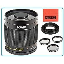 500mm f/8 Telephoto Mirror Lens For Nikon 3000, D3100, D3200, D3300, D5000, D5100, D5200, D5300, D7000, D7100, DF, D3, D3S, D3X, D4, D40, D40x, D50, D60, D70, D70s, D80, D90, D200, D300, D600, D610, D700, D750, D800, D800E, D810, Digital SLR Camera