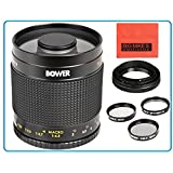 Bower 500mm f/8 Telephoto Mirror Lens For Nikon 3000, D3100, D3200, D3300, D5000, D5100, D5200, D5300, D7000, D7100, DF, D3, D3S, D3X, D4, D40, D40x, D50, D60, D70, D70s, D80, D90, D100, D200, D300, D600, D610, D700, D750, D800, D800E, D810, Digital SLR Cameras