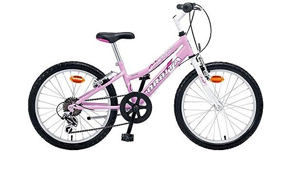 Órbita Bicicleta Infantil MTB Acero BTT 20 6v Rosa Blanca: Amazon.es: Deportes y aire libre