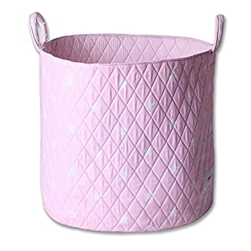 Minene Storage Basket, Round Storage Baskets, Large Fabric Storage Basket    Great For Toy