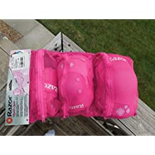 Pink Youth Knee Elbow Protective Pads Wrist Guards Sports Age 8 New