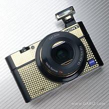 Gariz Metal Sticker MS-RX100 Carbon Gold Body Skin for Sony DSC-RX100 RX100, Carbon Gold