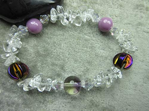 (Genuine Ametrine, Quartz, Hematite and Phosphosiderite Healing Bracelet)