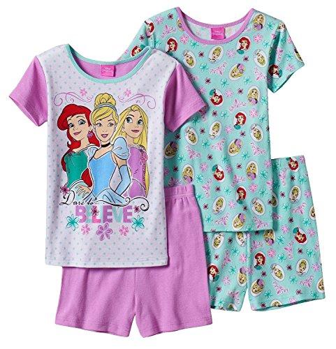 Disney Princess Sleeve Pajama 4 Piece