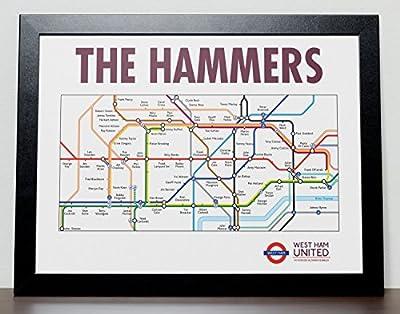 West Ham United FC London Metro Tube Subway Poster