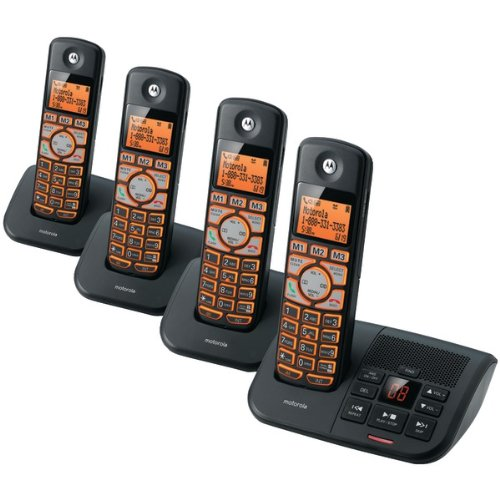 MOTOROLA K704B DECT 6.0 Cordless Phone System with Caller ID & Answering System (4-Handset System) (Handset 6.0 Four)