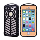 """100% Waterproof iPhone 7 Spider Case, Waterproof Shockproof Dustproof Full-body Rugged Metal Case with Tempered Glass Screen Protector Support Fingerprint Identification for iPhone 7 (4.7"""") Golden offers"""