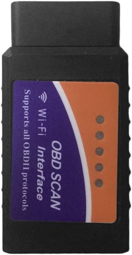 Farbe: schwarz ELM327 WIFI Schnittstelle OBD2 OBDII Auto-Diagnosescanner f/ür iOS Android PC
