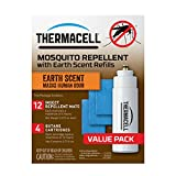 Thermacell E-4 Mosquito Repeller Refill with Earth Scent, 48 Hour Pack (12 Repellent Mats and 4 Fuel Cartridges)