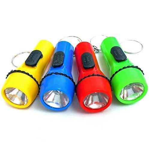 12x LED-Taschenlampe an Schlüsselkette Mitgebsel Kindergeburtstag Schlüsselanhänger