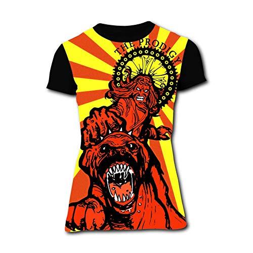 LOGvvl Womens Tee, Fashion Sun n The Prodigy Casual and Comfortable T-Shirt Short Sleeve 3D Print Black ()