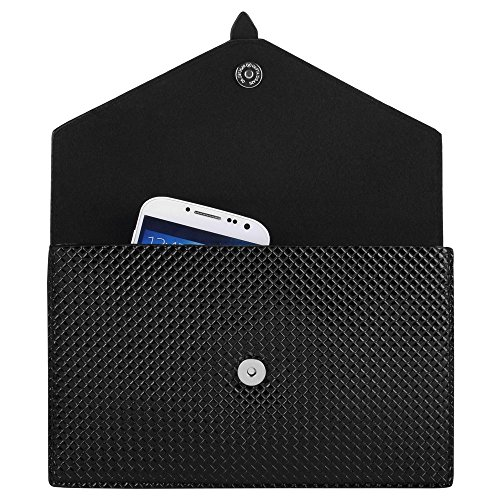 (Black Elegant Diamond Women Clutch Bag for Samsung S5 Sport, Active, Alpha )