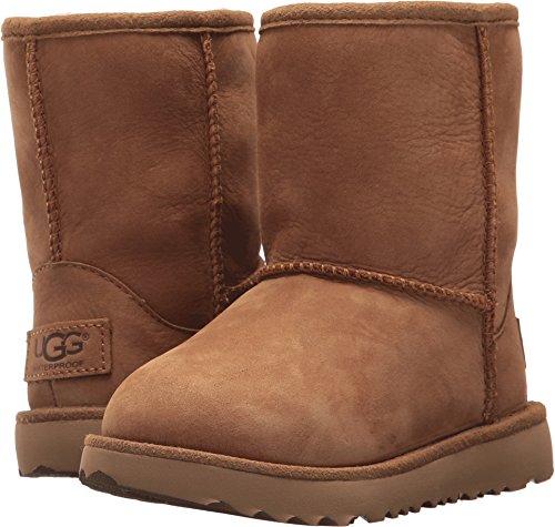 UGG Kids T Classic Short II WP Pull-on Boot, Chestnut, 8 M U