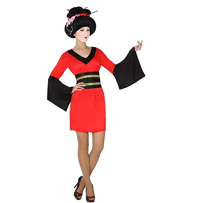 Carnevale Donna Adulto Mela Geisha Proibita Costume Kimono Vestito uOPkilTwXZ