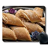 Custom Special Mouse Pad with Cookies Roll Batch Stuffing Non-Slip Neoprene Rubber Standard Size 9 Inch(220mm) X 7 Inch(180mm) X 1/8 Inch(3mm) Desktop Mousepad Laptop Mousepads Comfortable Computer Mouse Mat