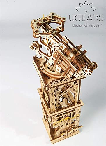UGEARS Balista e Torre in Legno – Modelli Militari Medievali da Costruire – Puzzle in 3D da Montare