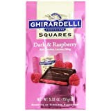 Ghirardelli Dark & Raspberry SQUARES Stand Up Bag– 151 Gram Bag