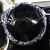 Rayauto Automotive Ethnic Flax Cloth Cute Elephant Universal Car Steering Wheel Cover
