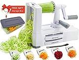 Vegetable Spiralizer Vegetable Slicer with 5 Blades- Zucchini...