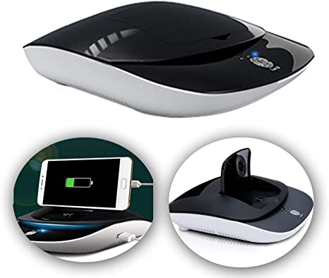 ANYURAN Purificador de Aire del Coche Solar USB de Carga Dual teléfono móvil de Carga Soporte para teléfono móvil multifunción Adecuado para la Oficina del Coche en casa,Black: Amazon.es: Deportes y aire
