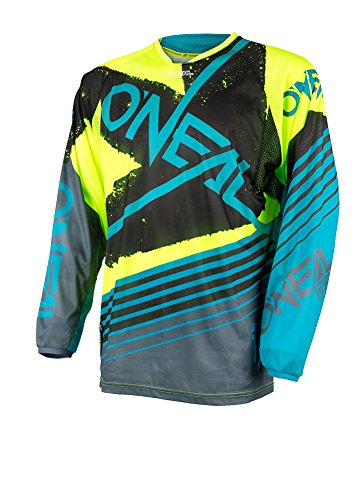 - O'Neal Unisex-Adult HARDWARE SKIZM JERSEY NEON/TEAL XL X-Large