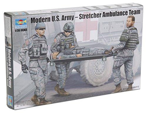 - Trumpeter Modern US Army Stretcher Ambulance Team Model Kit