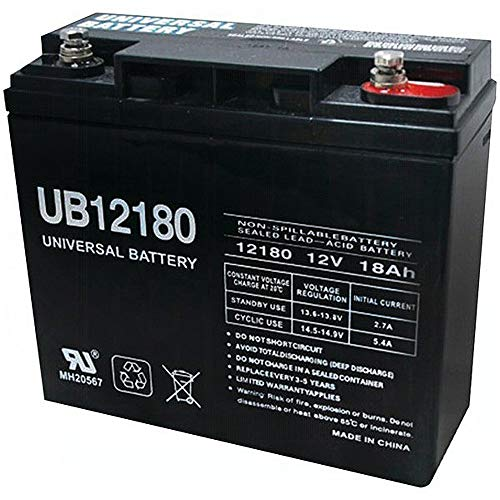Universal Power Group UB12180 12V 18AH SLA Internal Thread Battery for Booster Pac ES2500 ()