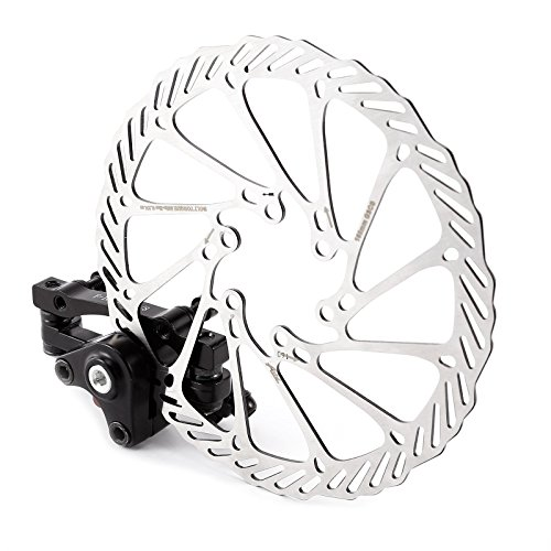 Mechanical Disc Brake MTB Bike Cycling Bicycle Front Rear Caliper 160mm Rotors (Front caplier + rotor set)