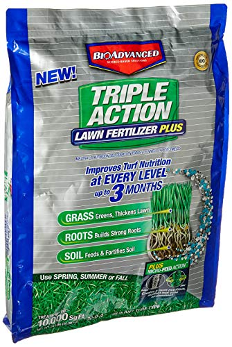 000 Feed (BioAdvanced 709860F Science-Based Solutions Lawn Weed and Feed, 10, 000 sq' Granules)