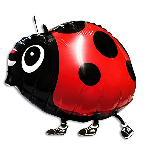 Soul Cats® 1 piece of foil balloon Ladybug with or without helium balloon balloon Airwalker, selection: helium filling