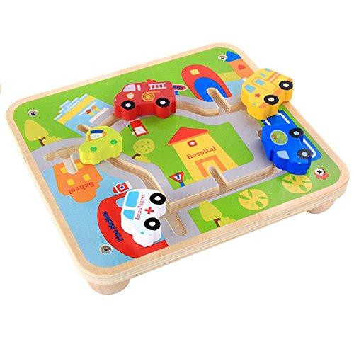 Zhenyu木製UrbanレールCartoonビルディングブロック玩具車トラック車子供早期教育玩具赤ちゃんの商品画像
