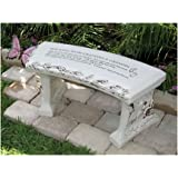 Hand Crafted U0027Walking With Grandma U0026 Grandpau0027 Cast Stone Garden Bench By  Southwest Graphix   Personalization Available