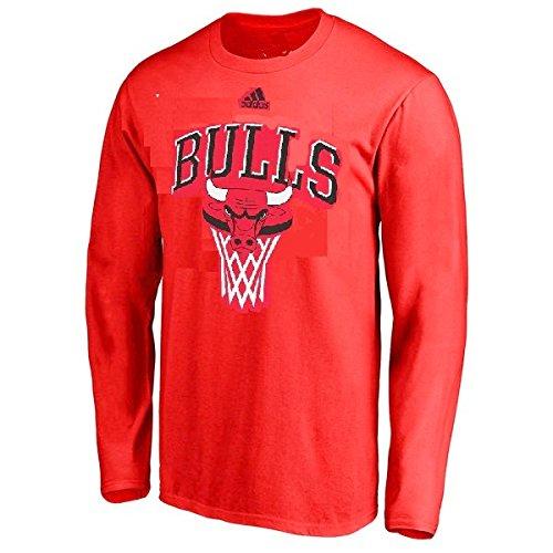 Outerstuff Chicago Bulls NBA Youth Bank Shot Long Sleeve Shirt (Youth Medium 10/12) (Valentines Carters Shirt)