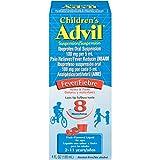 Children's Advil Suspension (4 fl. oz, Fruit-Flavored), 100mg Ibuprofen Fever Reducer/Pain Reliever, Liquid Pain Medicine, Ages 2 - 11