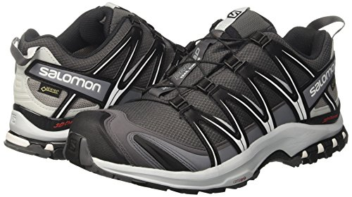 349dad46e77 Salomon Men's XA PRO 3D GTX Magnet/Black/Pearl Blue Athletic Shoe: Buy  Online at Low Prices in India - Amazon.in