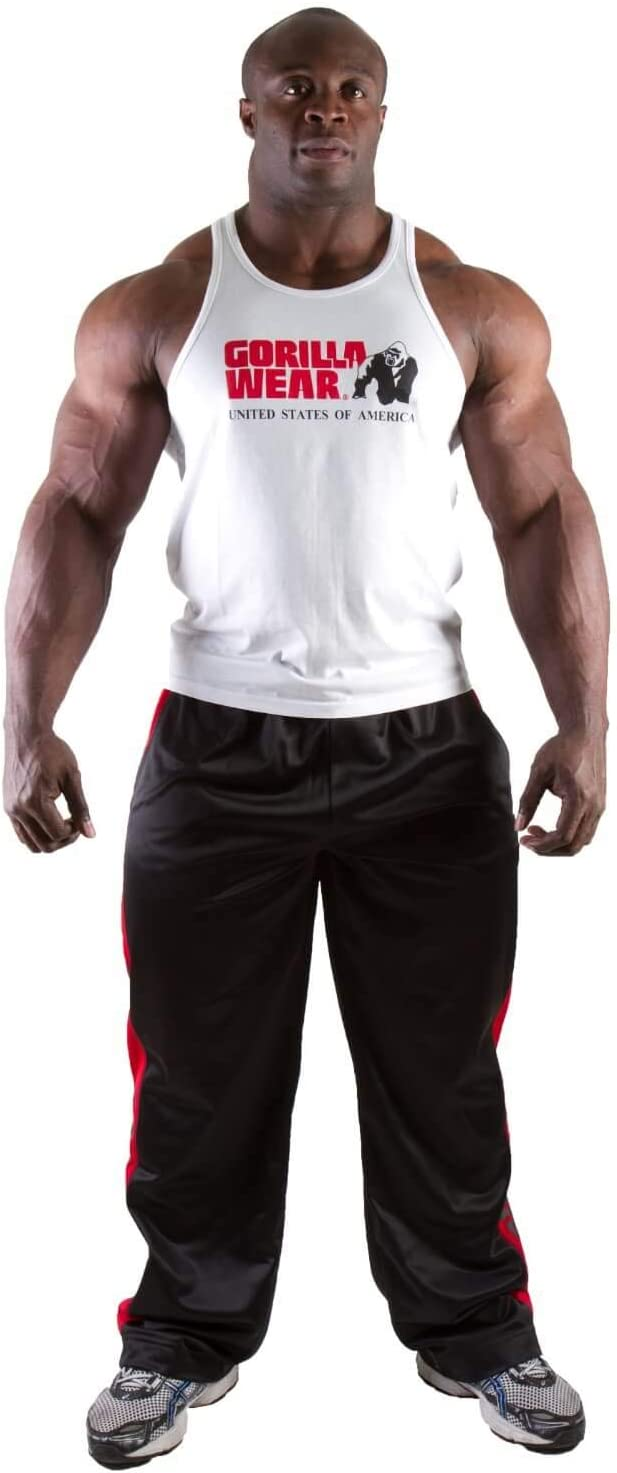 Camicia da Palestra da Uomo Gorilla Wear Canotta Classica S a 3XL Bodybuilding Fitness Muscle Shirt Fitness Muscle Shirt