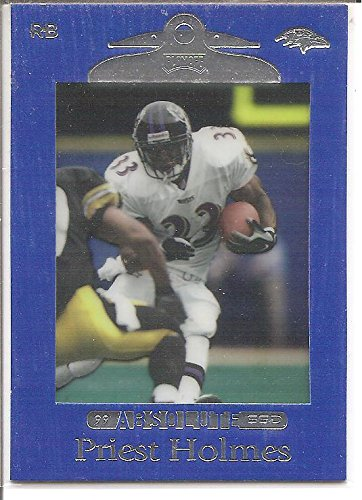 Priest Holmes Kansas City Chiefs / baltimore Ravens 1999 Playoff Absolute Football Card (Priest Holmes Kansas City Chiefs)