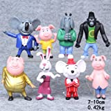 Good New Sing Movie Cartoon 8PCS/SET Action Figure Toys 3-4'' Buster Moon Johnny Doll