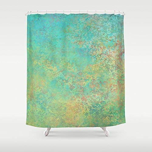 Photo Art Shower Curtain | Green Abstract Custom Shower Curtain | Modern Bath Decor | New Home Gift | Shower Curtain & Bath Mat Set