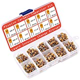 Ceramic Capacitor Assortment Kit - Set of 600 Small Assorted Capacitors from 100 nF to 10 uF in a Box - Non-Polarized Disc Capacitor Component Set from Plusivo