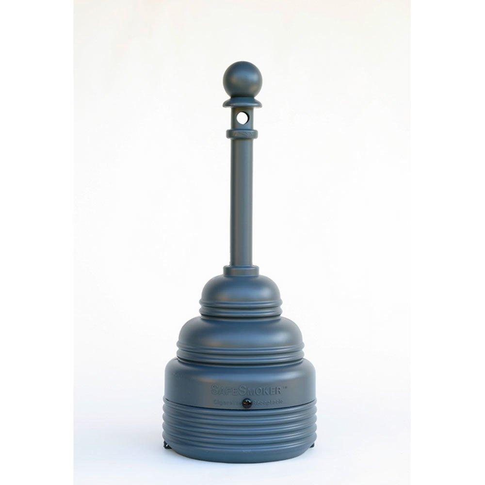 Gray SafeSmoker 4 Gal. w/ Galvanized Steel Cigarette Butt Can - SAFETY-EG-1208GRAY
