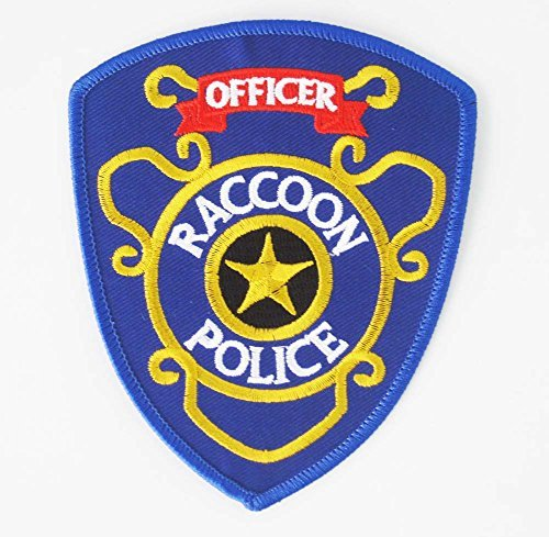 Raccoon Officer Umbrella Corporation Biohazard Resident Evil Sew Ironed Patch Badge Embroidery R-08 (Officer Police Patch)