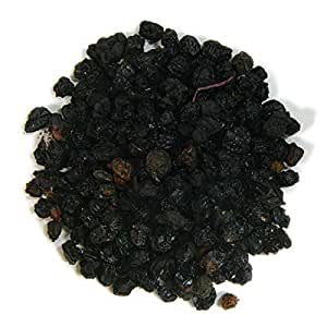 Frontier Co-op Elderberries, European Whole, Certified Organic, Kosher, Non-irradiated   1 lb. Bulk Bag   Sambucus nigra L.