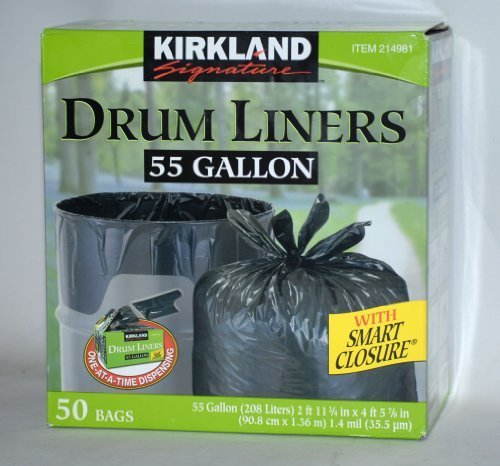 55 gallon  trash bags - Kirkland Signature drum liner trash
