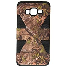 HR Wireless Carrying Case for Samsung Galaxy Grand Prime LTE - Retail Packaging - CAMOUFLAGE/Black