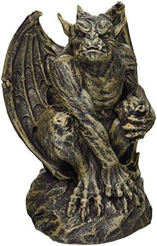 Design Toscano Silas the Sentry Gargoyle Gothic Statue, Medium, 7 Inch, Polyresin, Two Tone Stone ()