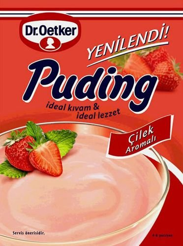 DrOetker Strawberry Pudding - 4.2 oz (Vanilla Cornstarch Pudding)
