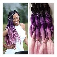 "SHANGKE 5pcs/lot 24"" Synthetic Braiding Hair Kanekalon Fiber Crochet Hair Jumbo Braiding Hair Kinky Twist African Hair (4)"