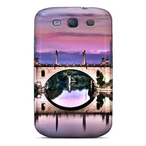 Galaxy Cover Case - Ancient Bridge In Rome Hdr Protective Case Compatibel With Galaxy S3